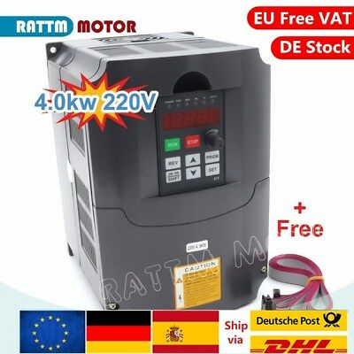 CNC 4KW HY 220V 5HP Variable Frequency Drive Motor VFD Inverter Single Phase【UK】