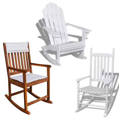 Garden Rocking Chair Reading Seat Traditional Slat Wood Outdoor Patio Furniture