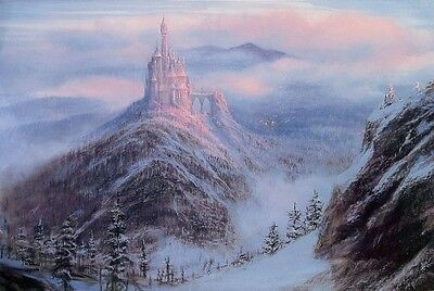 Mystical Kingdom of the Beast- Peter Ellenshaw -Limited Edition Giclee On Canvas