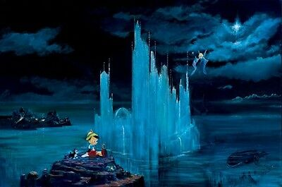 Blue Castle- Peter & Harrison Ellenshaw - Limited Edition Giclee On Canvas