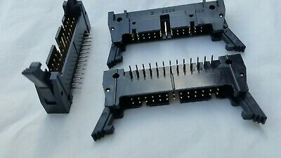 Boxed Header Plug Range 10-64 Way Vertical R//A Latched Polarised 2 Pieces EB64