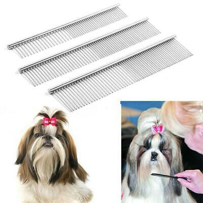 Pet Dogs Cats Multi-function Stainless Steel Hair Grooming Comb Cleaning WST 01