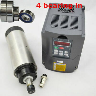 Air Cooled Spindle Motor & Inverter Drive Vfd For Cnc 2.2Kw Er20 Four Bearings