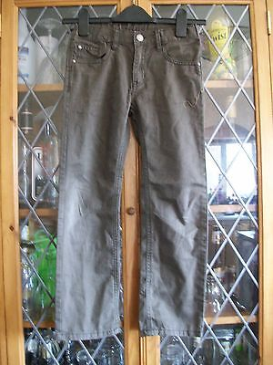 H&M BROWN COTTON JEANS 7-8Yrs **USED**