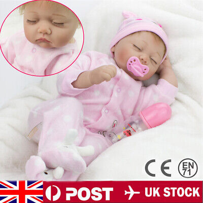 "22"" Full Body Realistic Reborn Dolls Lifelike Baby Boy Newborn Doll Kid Gifts"