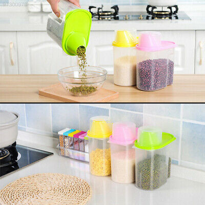 C945 Large Cereal Container Storage Tank with Lid Storage Pantry Organizer