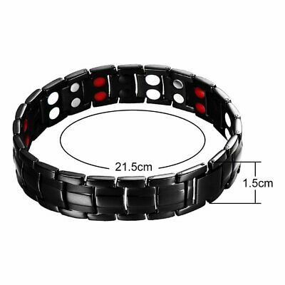 Therapeutic Energy Healing Bracelet Stainless Steel Magnetic Therapy Bracelet A1