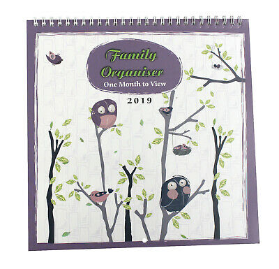2019 family organiser/ calendar - one Month to view for Home/Office