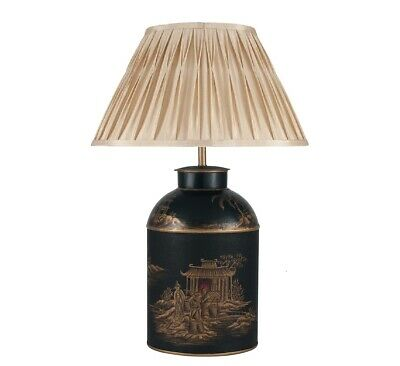 Pacific Lighting Chinoiserie HandPainted Table Lamp with Shade - Large - NEW