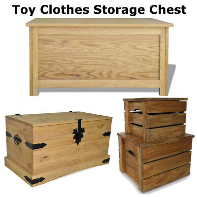 Storage Chest Toy Clothes Cabinet Tools Trunk Table Solid Wood Home Furniture UK