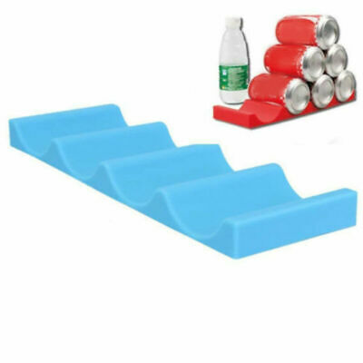 1/2pc Silicone Fridge Can Beer Wine Bottle Rack Holder Mat Stacking Bar Tidy Pad