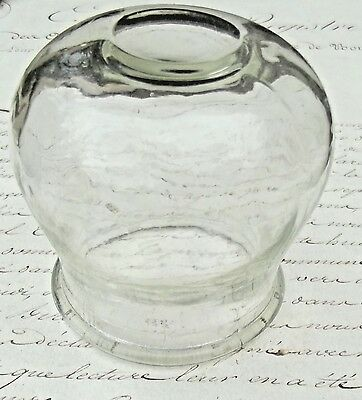 Antique French Glass Cup Miniature Display Dome 1880 Medical cupping glass