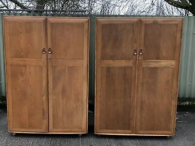 Superb Pair Of Ercol Wardrobes Very Clean Condition