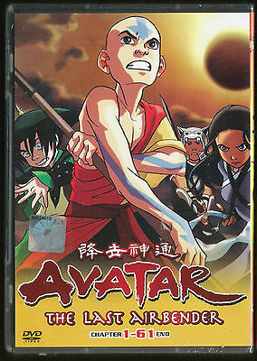 DVD Avatar The Last Airbender Chapter 1-61 end Complete Action Animation box set