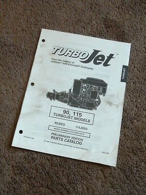 1995 johnson evinrude turbo jet 90 115 hp parts catalog 90jeeo 115jeeo  dealer