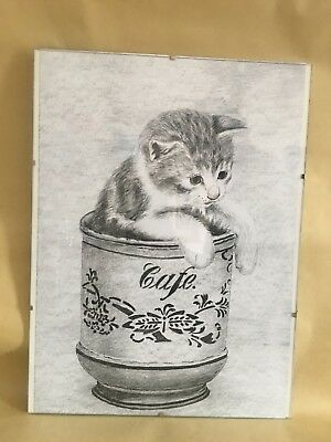 CAT KITTEN PAINTING DRAWING PRINT Canvas Wall Art Picture Large AN331 NO FRAME
