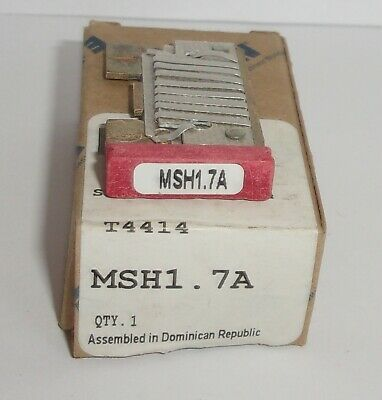 Eaton Cutler Hammer Msh1.7A Thermal Heater Overload  For Ms Starter Msh17A Nib