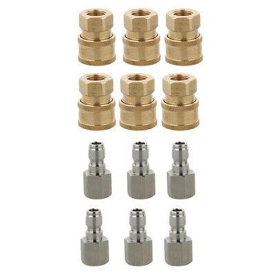 """4Pcs Pressure Washer Quick Connector Easy Connect Fitting 1//4/"""" G Male Pipe"""