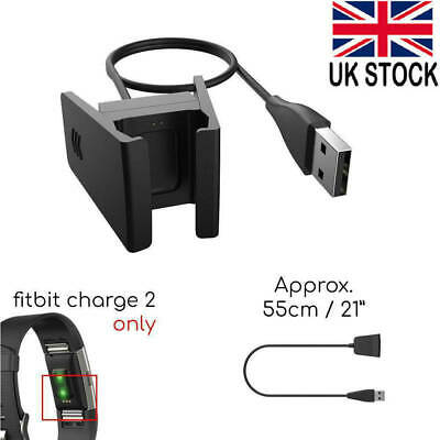 USB Charger Charging Cable for Fitbit 2 Charge Lead Fitness Tracker Wristband