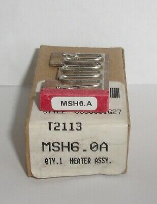 Eaton Cutler Hammer Msh6.0A Thermal Heater Overload  For Ms Starter Msh60A Nib
