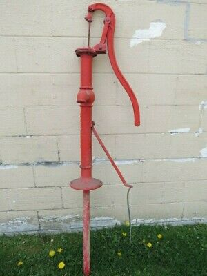 "Vintage 68"" Tall Cast Iron Water Well Pump, Fairbury Windmill Co, Fairbury, NE"