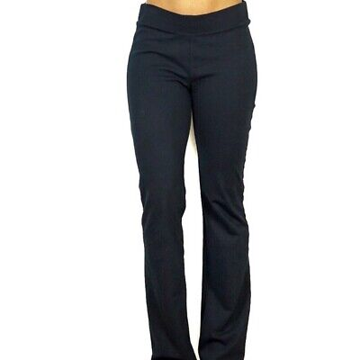Cabi Womens Pants Size S Navy Stretch Knit Pull On Bootcut Banded Waist