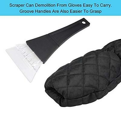 Ice Scraper mitten for Windscreen, Snow Removal with Antifreeze Gloves