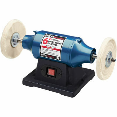 "Clarke CBB150 250W 6"" Bench Buffer/ Polisher (230V) 6500485"
