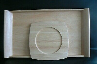 MARKS & SPENCER Large Wooden Tray & Under Plate 26 x 15 inch