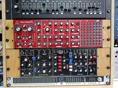 Behringer Model D Rack Ears In Solid Oak From Synths And Wood