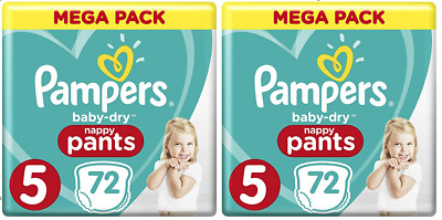 COUCHES PAMPERS BABY DRY PANTS- Lot de 144 Couches - Taille 5 : 12 à 17 kg