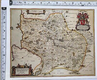 Historic Antique vintage Old Map: Kyle, Carrick Ayrshire, Scotland 1600s REPRINT