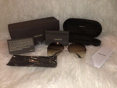 3416649c7a174 Tom Ford Sunglasses FT0250 28F Colette Butterfly Shiny Rose Gold Brown  Gradient