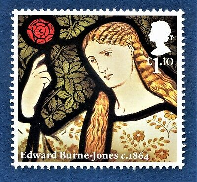 William Morris & Co The Merchant's Daughter - Edward Burne-Jones on a Stamp U/M