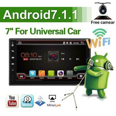 """7 """" 2DIN Android Car Radio GPS Navi Audio Stereo MP5 Player 4G Wifi W/ Rear Cam"""