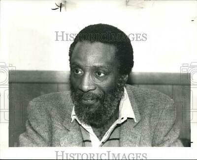 1983 Press Photo Comedian Dick Gregory