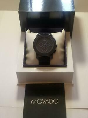 Men's Navy Blue Movado Bold Watch w/Box and Manual
