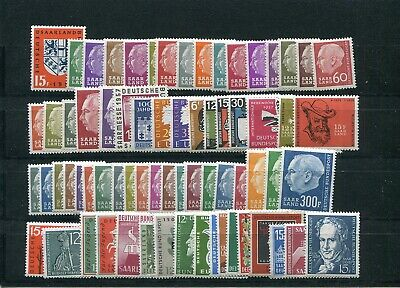 GERMANY SAAR 1957 - 1959 COMPLETE COLLECTION ALL STAMPS PERFECT MNH (see scan)