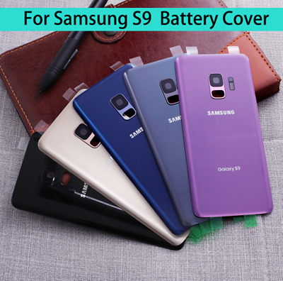 For Samsung Galaxy S9 S9+ Plus Glass Back Battery Cover Rear Door + Camera Lens