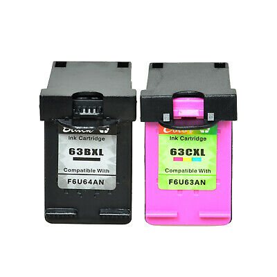 Cartridges Compatible with HP 63XL Officejet 3830 4650 5252 Full of Ink w/Chip