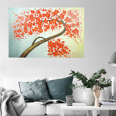 Hand-Painted Oil Painting - Flower Tree| Abstract Wall Art Home Decor Framed