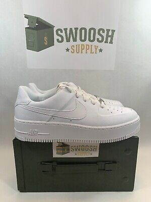 new style 2f325 f83dd Nike Women s AF1 Sage Low Air Force 1 Triple White Size 12 Mens 10.5 AR5339-