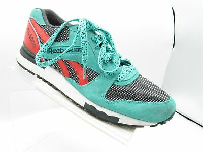 sports shoes b3ab1 4f797 Reebok GL 6000 Classic Size 9 M Turquoise Suede Sneakers Athletic Mens Shoes