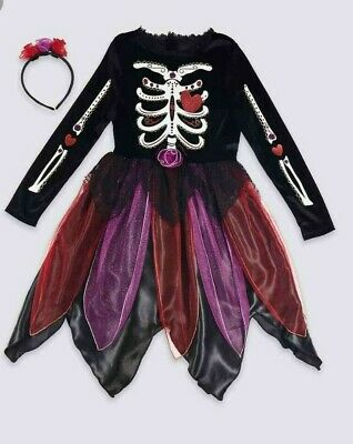 MARKS + SPENCER Kids Day of the Dead Dress Up COSTUME 9-10 YRS HALLOWEEN ? BNWT