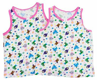 REDUCED 2 x Girl`s Hey Duggee Vests Age 18/24, 2/3, 3/4, 4/5 And 5/6