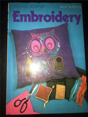 The basic book of Embroidery by Jane Simpson, hardcover, needlework, patterns