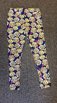 b2aa8b0a39c1b2 LuLaRoe Women's Floral Print Leggings size TC Tall & Curvy - Purple Yellow