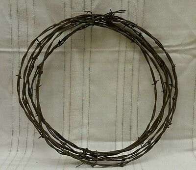 VTG Barb Wire 10 Feet Arts Crafts Collecting Rusted Used Barbwire Original