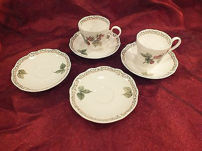 "2 Cups & 4 Saucer Set Noritake Primachina ""ROYAL ORCHARD #9416"" Excellent Cond"