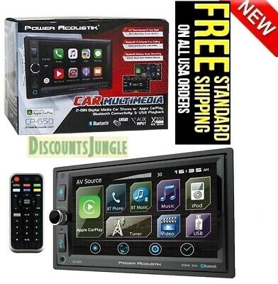 Soundstream Double Din VRCP65 DVD/CD Player CarPlay Android Phonelink Bluetooth